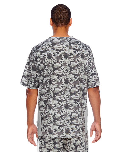 Sport Camo/Sport Silver-back TT12 Team 365 Short-Sleeve Athletic V-Neck All Sport Camo Jersey Shirt