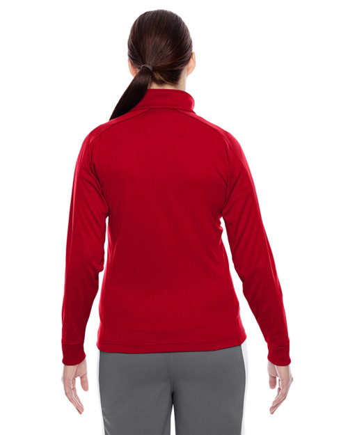 Sport Red/White-back TT32W Team 365 Elite Performance Quarter-Zip Sweater