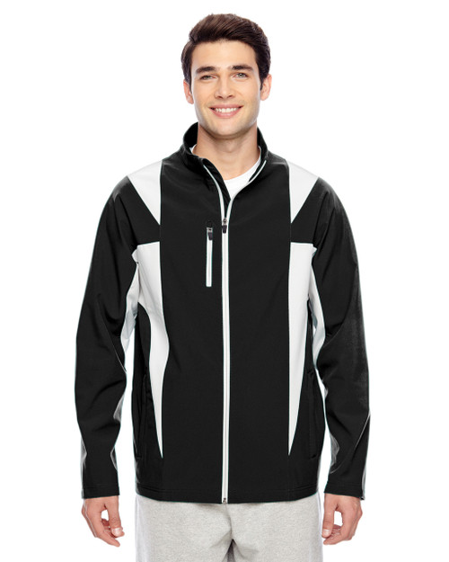 Black/Sport Silver - TT82 Team 365 Icon Colourblock Soft Shell Jacket | BlankClothing.ca