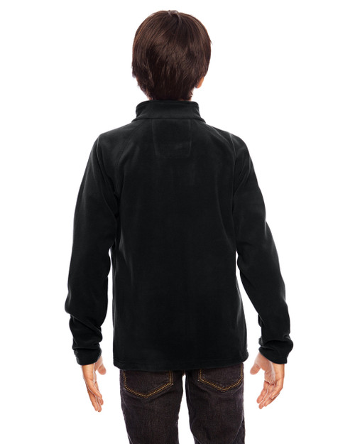 Black-back TT90Y Team 365 Youth Campus Microfleece Jacket