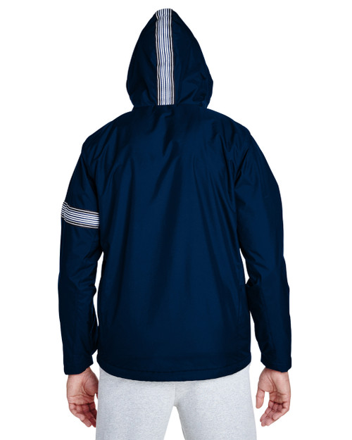 Sport Dark Navy-back TT78 Team 365 Boost All-Season Jacket with Fleece Lining