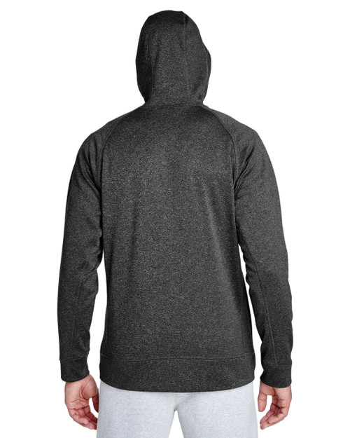 Dark Grey Heather/Sport Grey-back  TT38 Team 365 Excel Mélange Performance Fleece Jacket