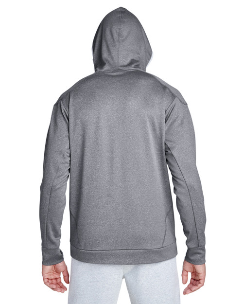 Athletic Heather/Sport Silver - Back, TT36 Team 365 Excel Performance Hoodie