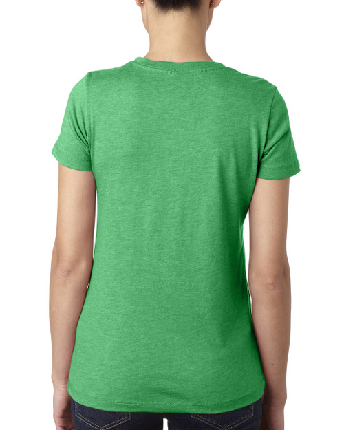 Envy, Back 6710 Next Level Ladies' Tri-Blend Crew T-Shirt | Blankclothing.ca