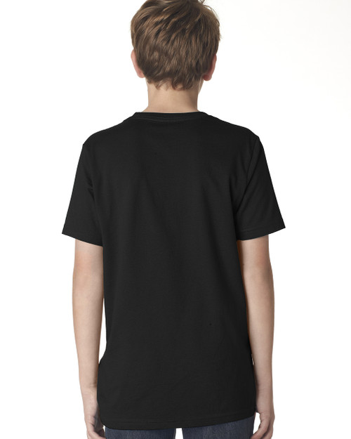 Black - Back,  3310 Next Level Boys' Premium Crew Tee | Blankclothing.ca