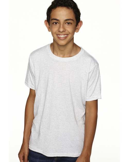 Heather White - N6310 Next Level Boys' Tri-Blend Crew Tee | Blankclothing.ca
