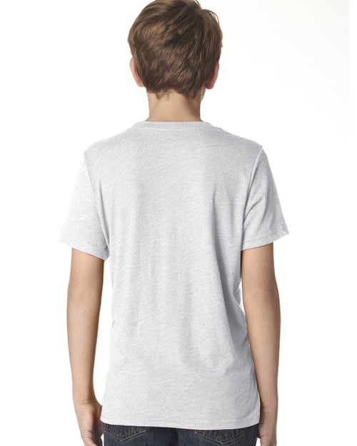 Heather White-back N6310 Next Level Boys' Tri-Blend Crew Tee | Blankclothing.ca
