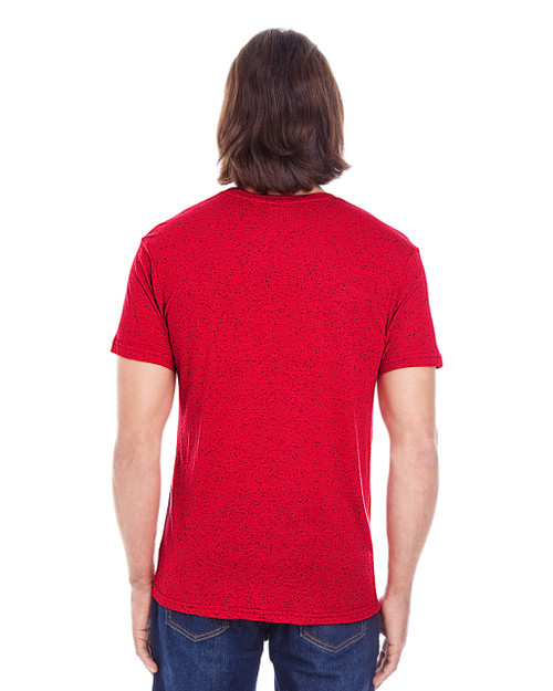 Red Fleck, Back - 103A Threadfast Men's Triblend Fleck Short-Sleeve T-Shirt | BlankClothing.ca