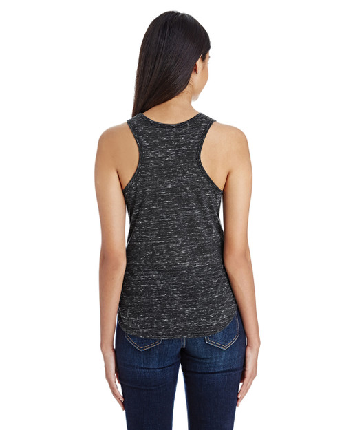 Black Blizzard - Back, 204LT Threadfast Ladies' Blizzard Jersey Racer Tank Top | BlankClothing.ca
