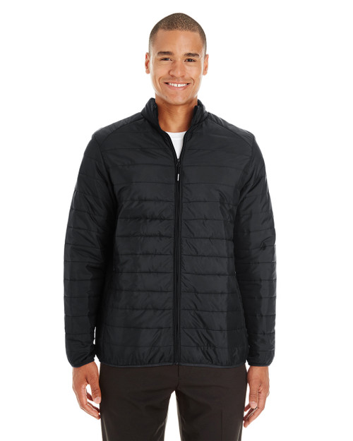 Black - CE700 Ash City - Core 365 Men's Prevail Packable Puffer Jacket | Blankclothing.ca