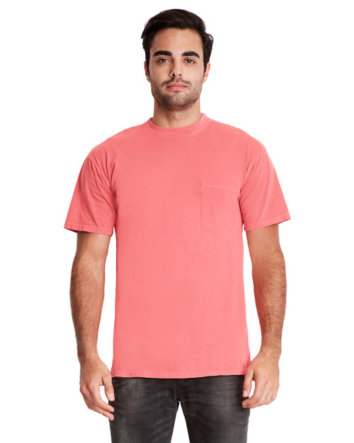 Guava - 7415 Next Level Adult Inspired Dye Crew T-Shirt with Pocket | Blankclothing.ca