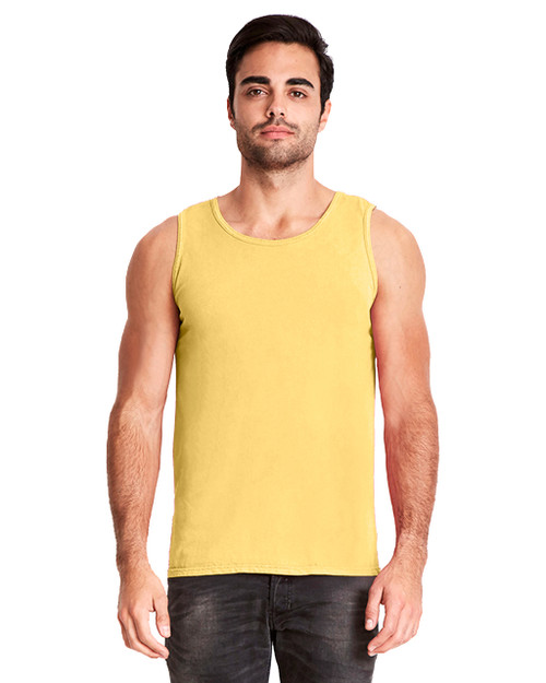 Blonde - 7433 Next Level Adult Inspired Dye Tank Top | Blankclothing.ca