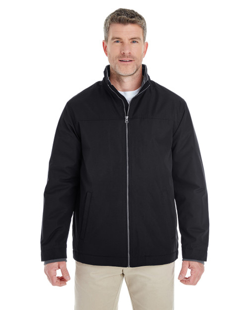 Black - DG794 Devon & Jones Men's Hartford All-Season Club Jacket