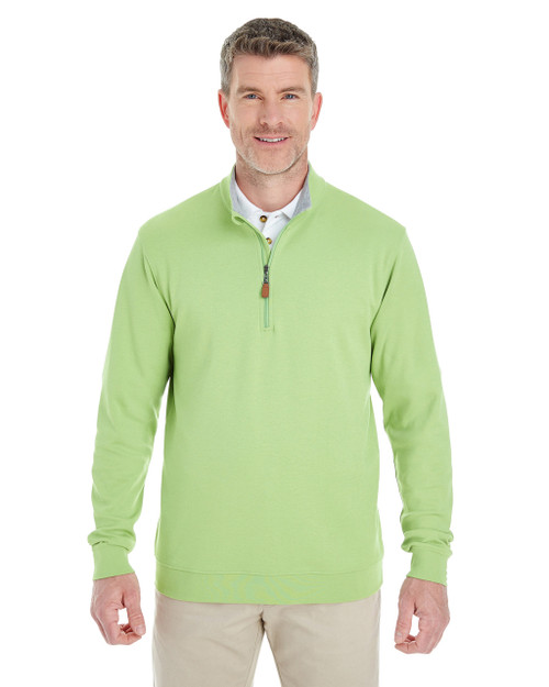 Lime/Graphite Heather - DG479 Devon & Jones Men's DRYTEC20™ Performance Quarter-Zip Sweater
