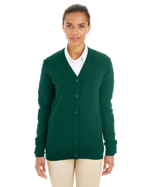 Hunter - M425W Harriton Ladies' Pilbloc™ V-Neck Button Cardigan Sweater