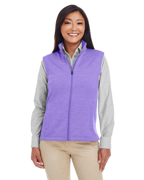 Grape Heather - DG797W Devon & Jones Ladies' Newbury Mélange Fleece Vest