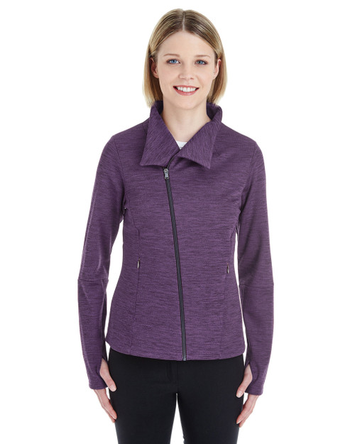 Purple/Carbon - NE704W Ash City - North End Ladies' Amplify Melange Fleece Jacket | Blankclothing.ca