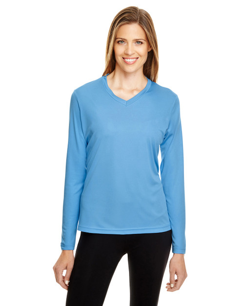 Sport Light Blue - TT11WL Team 365 Ladies' Zone Performance Long-Sleeve T-Shirt
