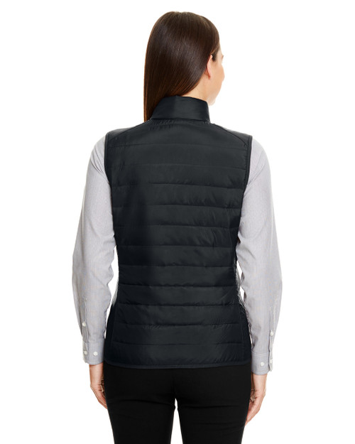Black - CE702W Ash City - Core 365 Ladies' Prevail Packable Puffer Vest | Blankclothing.ca