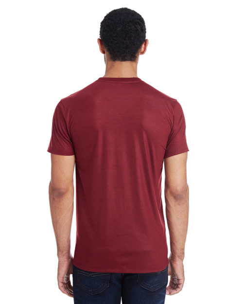 Liquid Cardinal, Back - 140A Threadfast Men's Liquid Jersey Short-Sleeve T-Shirt | Blankclothing.ca