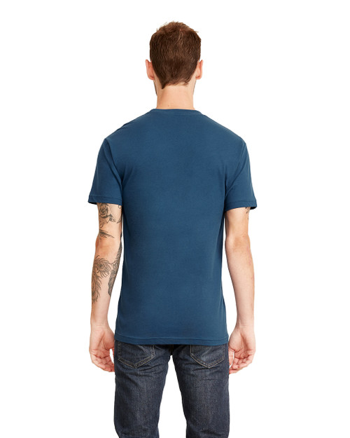 Cool Blue, Back - 3605 Next Level Unisex Pocket Crew T-Shirt | Blankclothing.ca