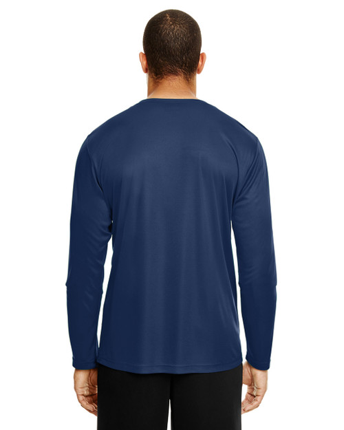 Sport Dark Navy, Back - TT11L Team 365 Men's Zone Performance Long Sleeve T-Shirt | BlankClothing.ca