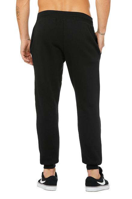 Black, Back - 3727 Bella + Canvas Unisex Jogger Sweatpant
