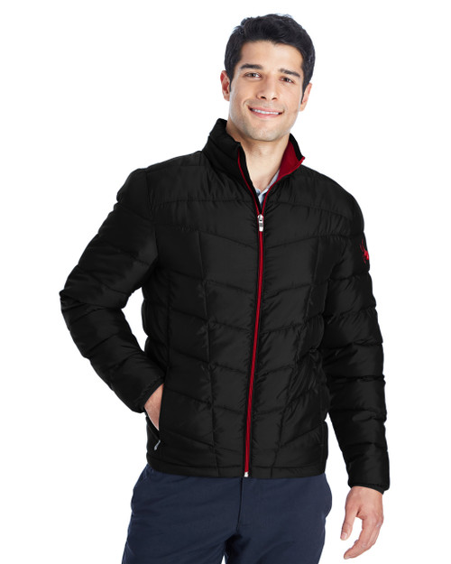 Black/Red - 187333 Spyder Men's Pelmo Insulated Puffer Jacket   BlankClothing.ca