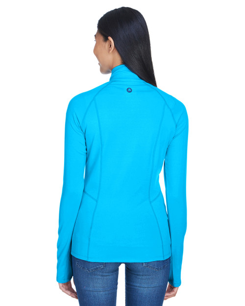 Atomic Blue, Back - 900706 Marmot Ladies' Meghan Half-Zip Pullover | BlankClothing.ca