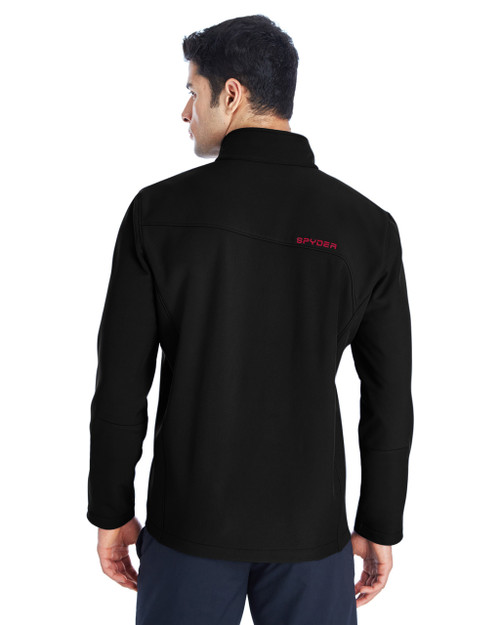 Black/Red, Back - 187334 Spyder Men's Transport Soft Shell Jacket