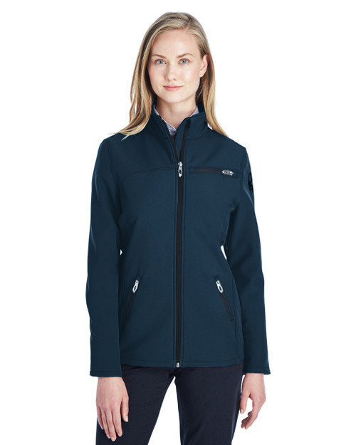Frontier/Black - 187337 Spyder Ladies' Transport Softshell Jacket | BlankClothing.ca