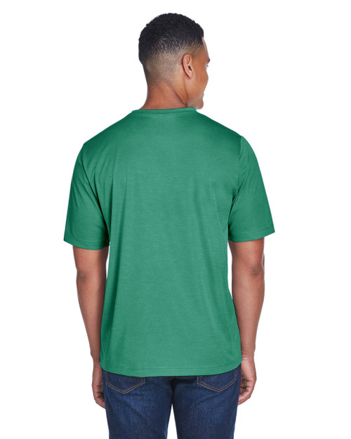 Sport Forest Heather - Back, TT11H Team 365 Men's Sonic Heather Performance T-Shirt | BlankClothing.ca
