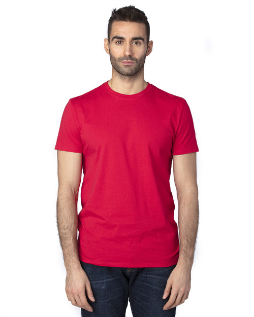 Red - 100A Threadfast Unisex Ultimate Short-Sleeve T-Shirt   BlankClothing.ca