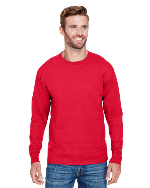 58ca40093767 Athletic Red - CP15 Champion Adult Long-Sleeve Ringspun T-Shirt |  BlankClothing.