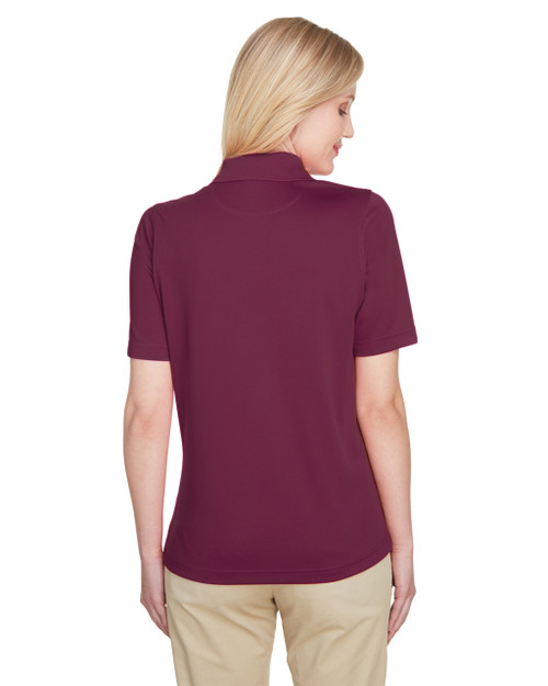 Maroon, Back - M348W Harriton Ladies' Advantage Snag Protection Plus IL Polo Shirt | Blankclothing.ca