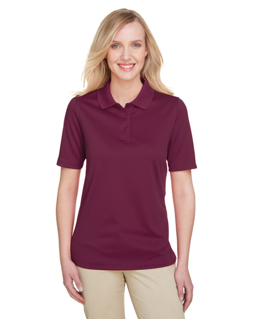 Maroon - M348W Harriton Ladies' Advantage Snag Protection Plus IL Polo Shirt | Blankclothing.ca