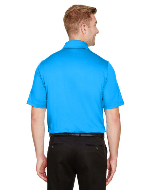 Ocean Blue, Back - DG21 Devon & Jones Men's CrownLux Performance™ Range Flex Polo Shirt | BlankClothing.ca