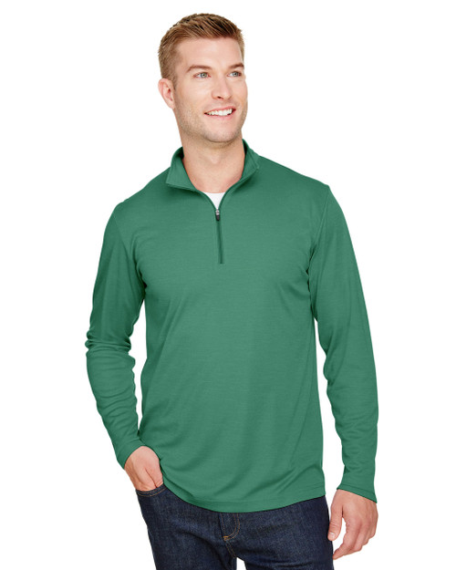 Sport Forest Heather -  TT31H Team 365 Men's Zone Sonic Heather Performance Quarter-Zip Active Shirt | BlankClothing.ca