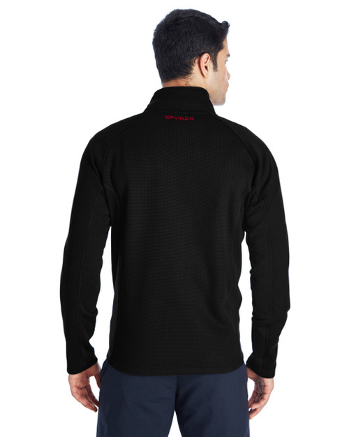 Black/Black/Red, Back - 187330 Spyder Constant Full-Zip Sweater | BlankClothing.ca