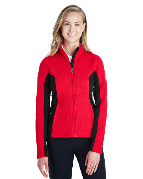 Red/Black/White - 187335 Spyder Ladies' Constant Full-Zip Sweater | BlankClothing.ca