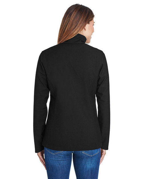 Black, Back - 5343 Columbia Ladies' Kruser Ridge™ Soft Shell Water And Wind Resistant Jacket | BlankClothing.ca