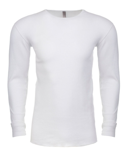 White - N8201 Next Level Adult Long-Sleeve Thermal | BlankClothing.ca