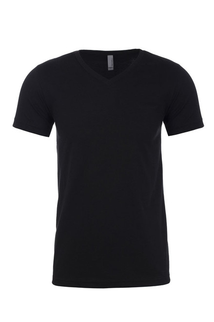 Black - 6240 Next Level Men's CVC V-Neck T-shirt  | BlankClothing.ca