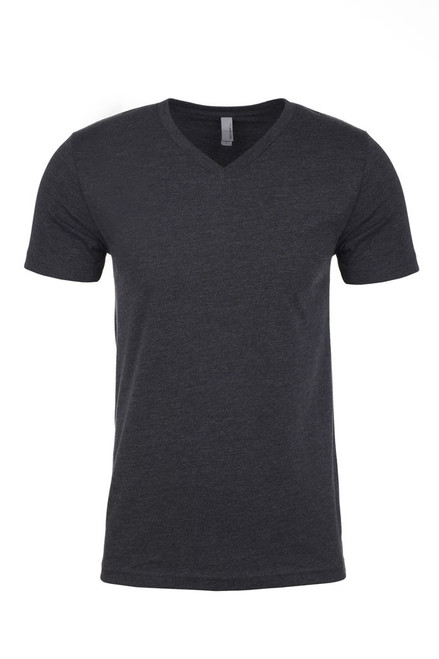 Charcoal - 6240 Next Level Men's CVC V-Neck T-shirt  | BlankClothing.ca