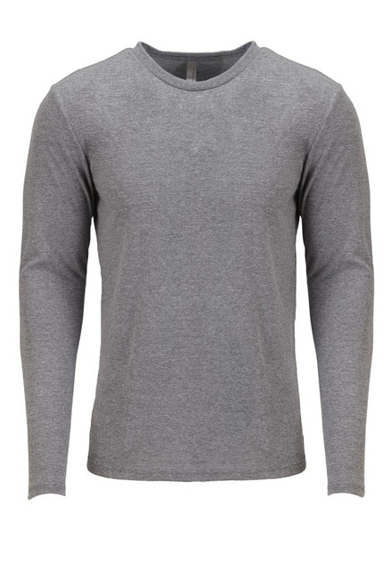 Premium Heather - 6071 Next Level Men's Triblend Long-Sleeve Crewneck Shirt | BlankClothing.ca