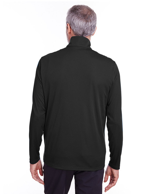 Puma Black - back, 596807 Puma Golf Men's Icon Quarter-Zip Shirt | Blankclothing.ca