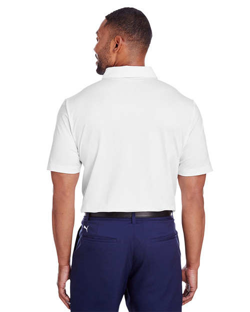 Lapis Blue/Quarry - back, 597221 Puma Golf Men's Spotlight Polo | Blankclothing.ca