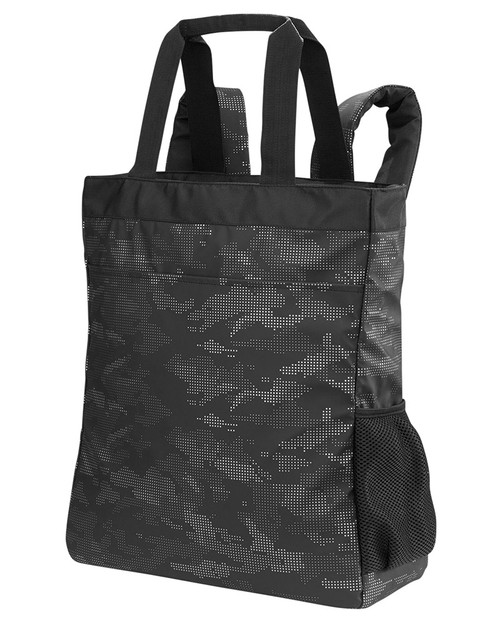 Black/Carbon - Side, NE901 North End Reflective Convertible Backpack Tote | BlankClothing.ca