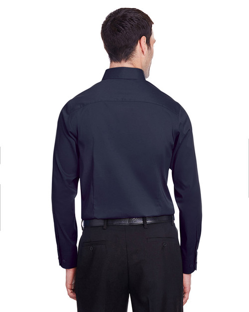 Navy - back, DG560 Devon & Jones Men's Crown Collection™ Stretch Broadcloth Slim Fit Shirt | Blankclothing.ca