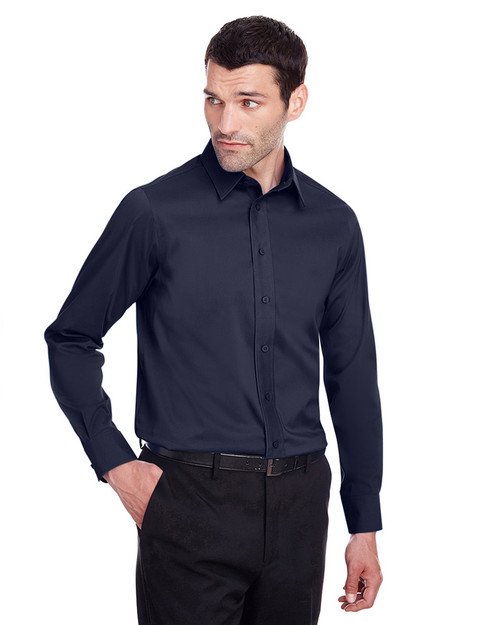Navy - DG560 Devon & Jones Men's Crown Collection™ Stretch Broadcloth Slim Fit Shirt | Blankclothing.ca